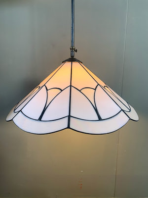Hanglamp glas-in-lood-stijl