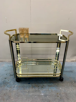 Vintage messing barcart